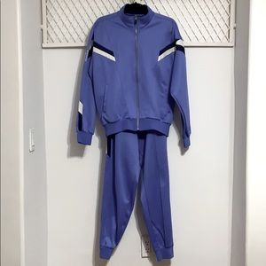 RUN BIRD X MIZUNO Matching Tracksuit Set Blue